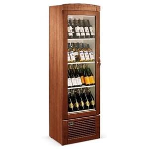 EXPOSITOR REFRIGERADO PARA VINOS - Mod. AKD100W - Capacidad de botellas n. 45 - Temperatura diferenciada por cada piso - Temperatura +5/+18 °C - Potencia W 150 - Alimentación Monofásica - Medidas cm L 60 x P 60,2 x 86h - CE