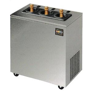 ABATIDOR DE TEMPERATURA - MOD. T3 - Enfriamiento por AIRE - Capacidad de bandejas: N. 3 x GN 2/3 (cm 35,4x32,5) - Rendimiento de enfriamiento: +70° +3° (Kg 8) - Rendimiento de congelación: +70° -18° (Kg 5) - Dim. ext. cm L 66 x P 65 x h 43 - CE