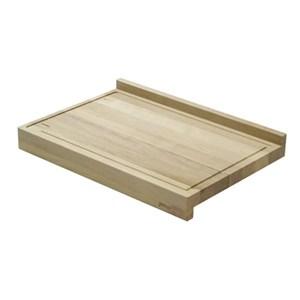 TABLA DE CORTAR de doble función mod. Thyle -  de carpe blanco macizo acanalado