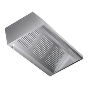 Campana de pared de acero inoxidable AISI 430 (sin turbina) - Filtros de lamas