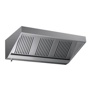 Campana de pared Tipo Snack de acero inoxidable AISI 430 (sin turbina) - Filtros de lamas