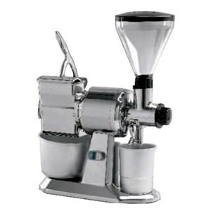 MOLINILLO DE CAFÉ, DE ESPECIAS Y RALLADOR - MOD. MCMPGR CGT - Producción horaria CAFÉ/QUESO Kg 10/50 - Alimentación V 400/50-60Hz TRIFÁSICA - Potencia Kw 0,75 (0,1 Hp) - Medidas Cm A 26 x F 50 x h 65 - Homologación CE