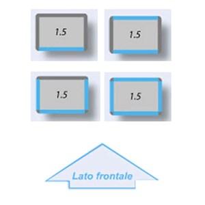 VITRINA REFRIGERADA para PASTELERÍA - MOD. TEK/23 - ESTRUCTURA EXTERIOR DE ALUMINIO ANODIZADO - CRISTAL DE BAJA EMISIVIDAD - Alimentación monofásica - REFRIGERACIÓN ESTÁTICA - TEMP. °C +2/+10 - CRISTAL DE EXPOSICIÓN A ELECCIÓN EN: 1, 2, 3 o 4 LADOS - Medidas CM L 90 X P 64 X h 191