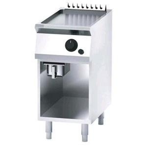 FRY TOP A GAS CON PLANCHA LISA EN ACERO INOX - Mod. FN72GHMX - MUEBLE ABIERTO - Potencia kW 5 - Medidas cm A 40 X F 70 X H 90 - CE