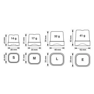 FABRICADOR DE HIELO EN CUBITOS LLENOS con SISTEMA SPRAY - Cod. TM35 - Tipo de cubito S - Cubitos de gr. 14 - PRODUCCIÓN hasta kg 22/24 h - Medidas cm L 35,5 x P 40,4 x H 59 - Norma CE