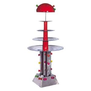 FUENTE DE AGUA - MOD. MAXIC/ILLUMINAZIONE - De acero inoxidable - N. 4 estantes - Con iluminación intermitente - Capacidad lt. 25 - Potencia 220 W - Alimentación monofásica 230v - Medidas cm L 80 X P 80 X H 160 - Homologación CE