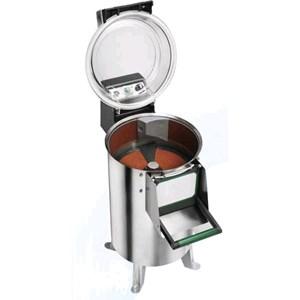PELADORA DE PATATAS Mod. PPN18 - Alimentación MONOFÁSICA o TRIFÁSICA - Capacidad de carga Kg 18 - Producción horaria Kg/h 220 - (Equipado con plato patatas) - Potencia hp 1,5 / 1100W - Homologación CE