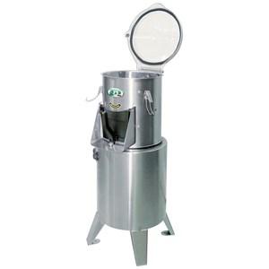PELADORA DE PATATAS - Mod. PL8 - Capacidad de carga kg 8 - Producción horaria Kg/h 200 - Potencia hp 1,0 - Kw 0,5 - Alimentación TRIFÁSICA o MONOFÁSICA - CE