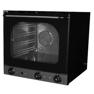 HORNO ELÉCTRICO DE CONVECCIÓN CON HUMIDIFICADOR - Mod. S 4 ECO - Para gastronomía, panadería y pastelería - Estructura exterior e interior de chapa galvanizada - Capacidad n. 4 bandejas de aluminio cm 44x31,5 - Potencia W 4670 - Alimentación monofásica - Medidas cm A 59,5 x F 57 x 57h - Homologación CE