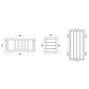 CONTENEDOR ISOTÉRMICO CON APERTURA SUPERIOR - MOD. MAILLON - Para el transporte de alimentos perecederos fríos, congelados o temperatura ambiente - Capacidad Lt. 68 - Medidas cm L 85 x P 45 x 39 H - CE