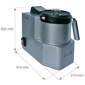 CUTTER TRITURADOR CON COCCIÓN - Mod. HOTMIXPRO EASY - Multifunción: mixer, cutter, sistema de cocción - Capacidad del recipiente lt 2 -  Temperatura +24°/+130° C - Potencia W 2000 - Dimensiones cm L 21,2 x P 31,4 x 30,2h