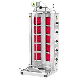 GYROS MÁQUINA COCINA KEBAB ELÉTRICOS - Mod. GYR 100 - Estructura de acero inoxidable - CAPACIDAD CARNE Kg 50-85 -  Potencia kW 7 - TRIFÁSICO - Homologación CE