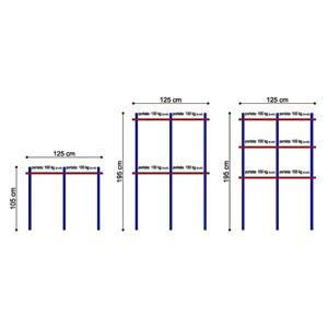 Barras para ganchos Mod. A FORCELLE - De aleación de aluminio anodizado - Ideales para colocaciones en el interior de las cámaras frigoríficas prefabricadas - Perfil cuelgacarne ovalado 50x20 mm