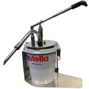 Máquina Llenadora con aguja - Mod. DIPENSER NUTELLA - Ideal para tarro de nutella Ferrero de 3 kg - Erogación regulable de 12 hasta 20 gramos - Dimensiones cm L 30 x P 17 x 37 h