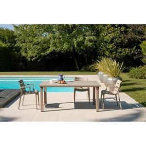 PUESTA DE SOL SILLA-MOD. 2329-reforzado del polímero estructura-para de interior y al aire libre uso-apilable-cantidad vendido 4 # - DIM. 61D x 59 x 82 H cm-CE