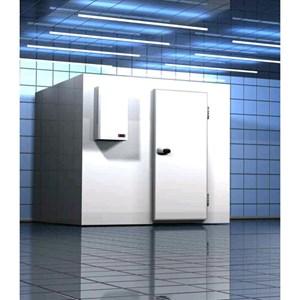 Cámara frigorífica modular - Espesor del panel cm 10 - Sin suelo - H 290 - Con n. 1 puerta de cm 80 x h 185 - Motor excluido