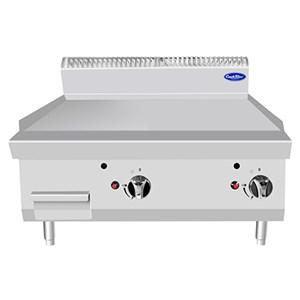 FRY TOP A GAS CON PLACA LISA INOX DE SOBREMESA - Mod. CV7I8IEC - Potencia kW 14 - Medidas cm L 80 X F 70 X H 54,7 - Homologación CE