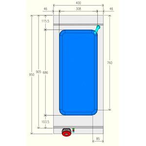 BAÑO MARÍA ELÉCTRICO - MOD. BME91M0 - Capacidad de cubetas: n. 1 GN 1/1 H15 + n. 1 GN 1/3 H15 - Compartimento abierto - Monofásico - Dimensiones: cm L 40 x P 90 x H 90 - CE