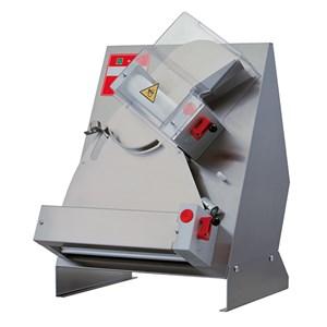 LAMINADORA DE PIZZA - 2 PARES DE RODILLOS (rodillo superior inclinado) - Mod. TO 42 C - Longitud de los Rodillos cm 40 - Potencia hp 0,50 - Alimentación monofásica 230 V - CE