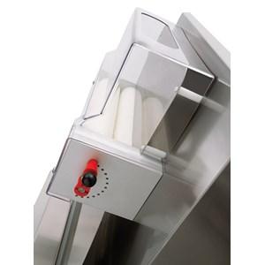 LAMINADORA DE PIZZA - 2 PARES DE RODILLOS (rodillos paralelos) - Mod. TO 42 VC - Longitud de los Rodillos cm 40 - Potencia hp 0,50 - Alimentación monofásica 230 V - CE