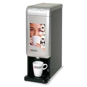 DISPENSADOR DE BEBIDAS CALIENTES - MOD. SOLO CAFFE' - PARA CAFÉ - N. 1 BEVANDA - CAPACIDAD DEL CONTENEDOR LT 3,2 - Dim. cm L 17 x P 38,5 x h 51 - CE