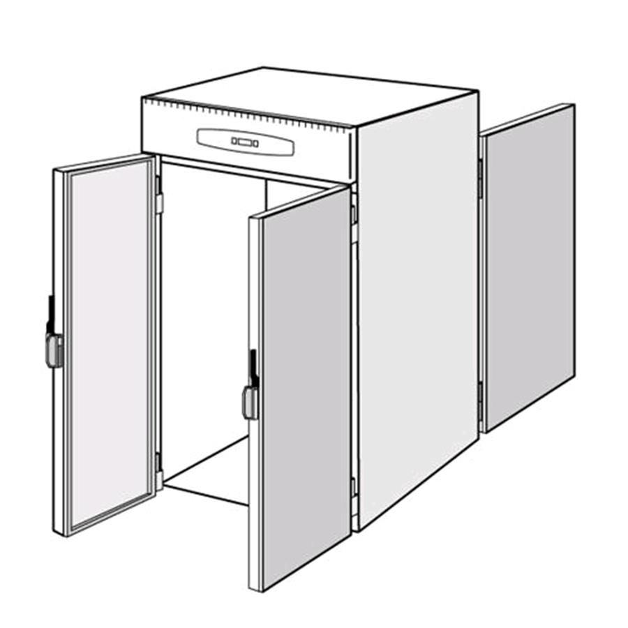 Armario frigor fico de acero inoxidable aisi 304 para for Frigorifico acero inoxidable