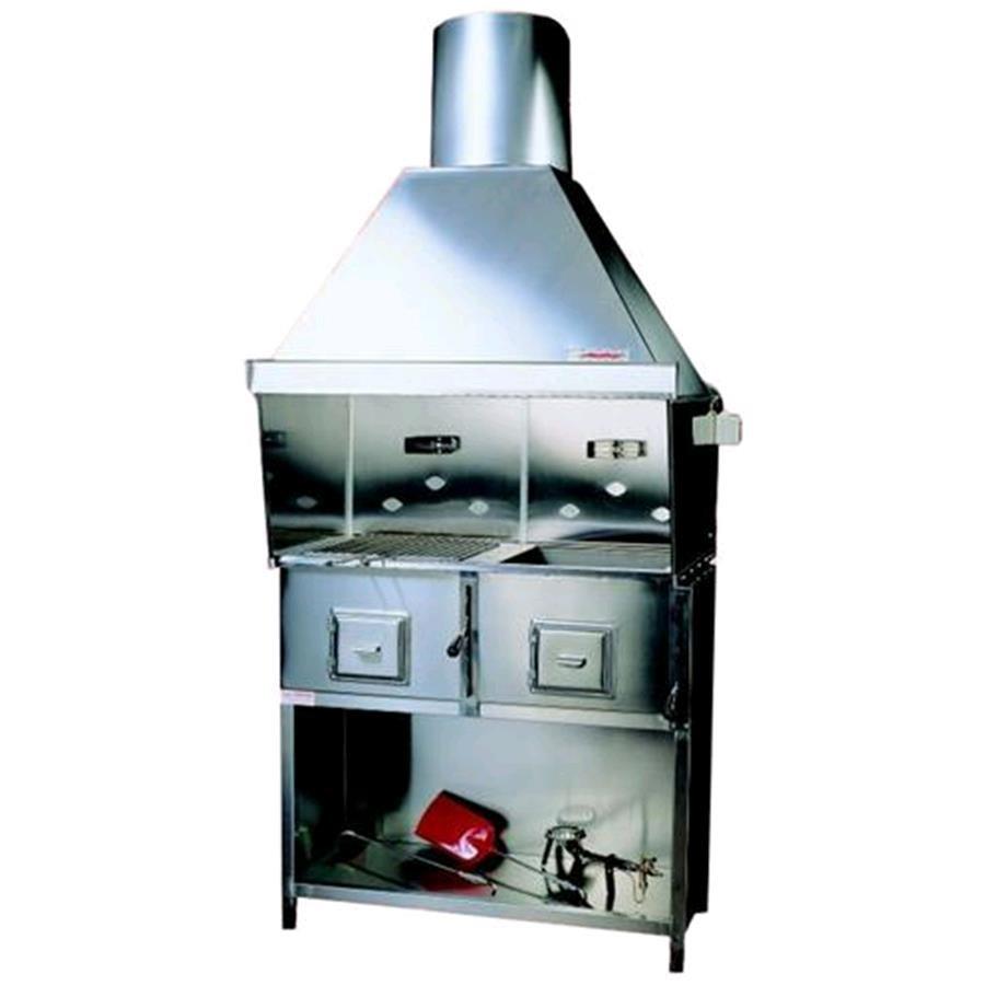 Cocina de carb n vegetal en acero inoxidable n 2 fuegos - Cocina de carbon ...